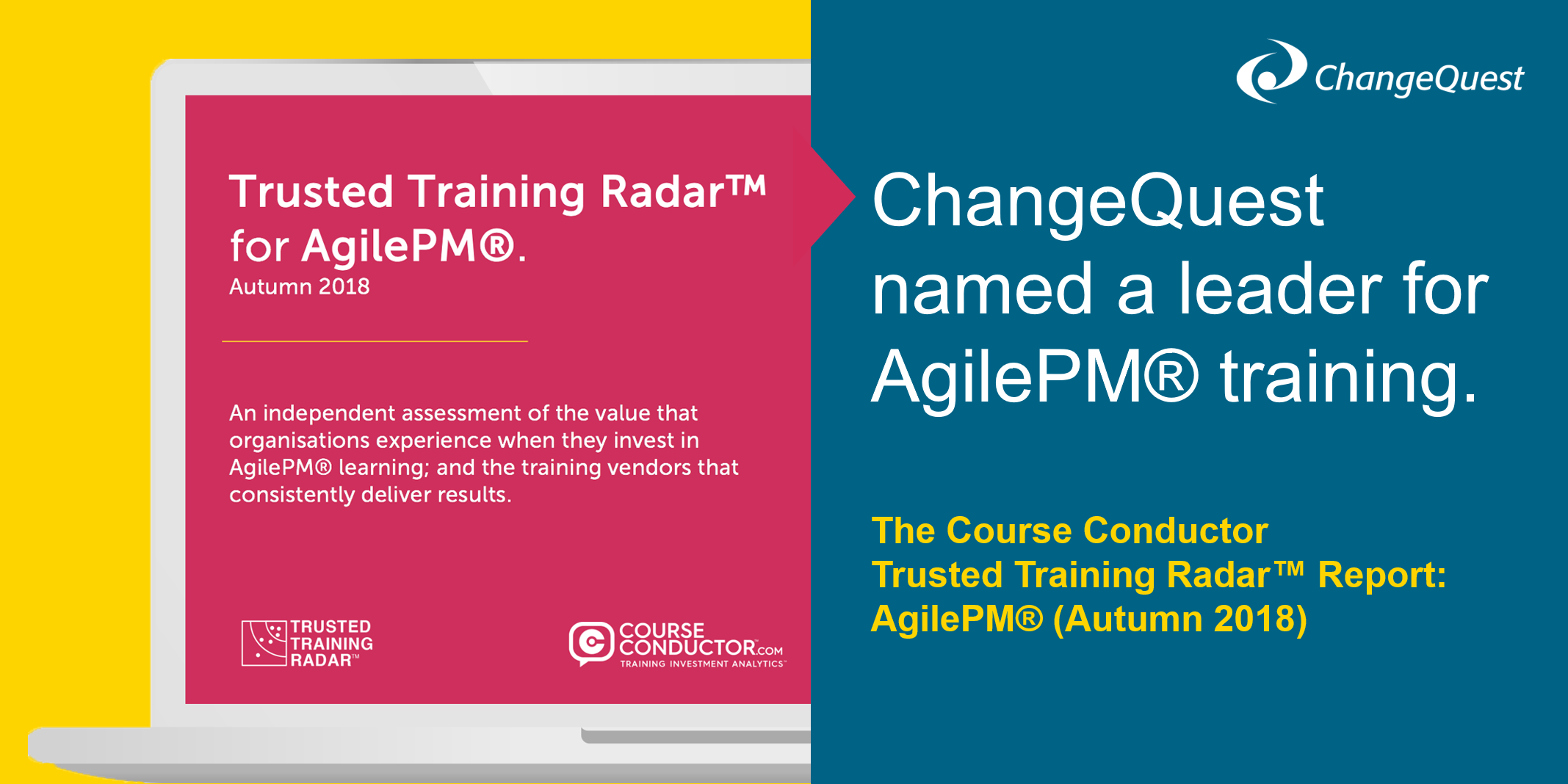 ChangeQuest named a leader for AgilePM training